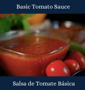 tomato sauce and small tomatoes
