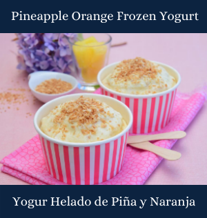 Pineapple Orange Frozen Yogurt
